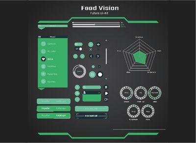 interfaz futurista